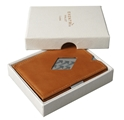 Exentri Cognac Leather Wallet  (RFID BLOCK)