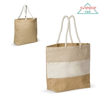 Beach bag jute/juco/canvas